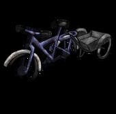 Велосипед с тележкой (старый)