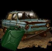 Сломанный ЗАЗ-968 (с топливом)