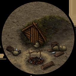 Лагерь (землянка)