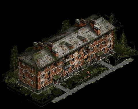 Уцелевший дом