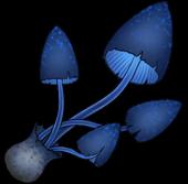 Странный гриб (синий)