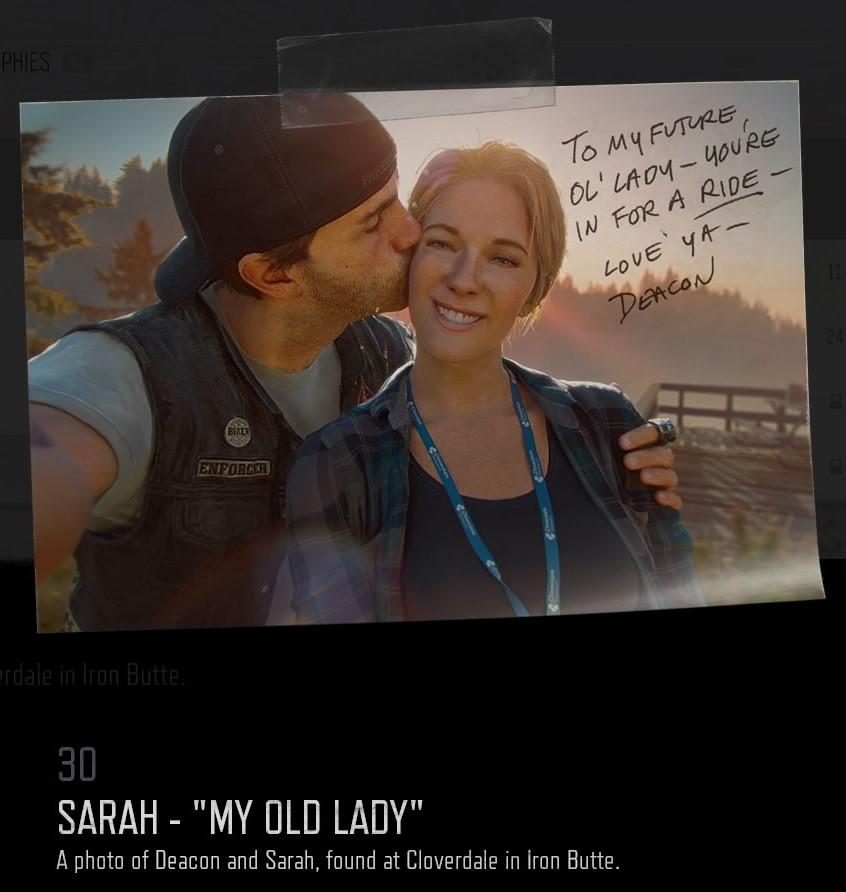 "Sarah - ""My Old Lady"""