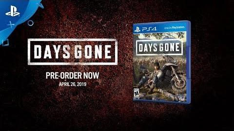 Days Gone - Pre-Order Announce Video - PS4
