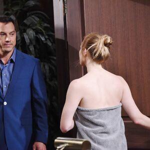 Stefan greets a half-naked Abigail.jpg