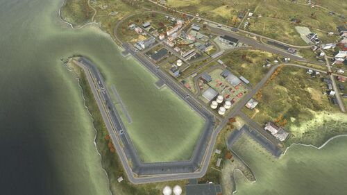 Aerial shot of Elektrozavodsk South/West