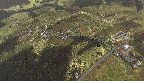 Aerial shot of Gvozdno