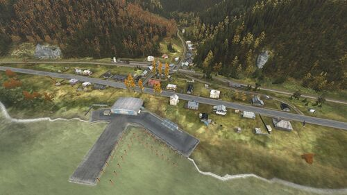 Aerial shot of Kamyshovo