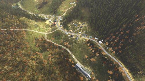 Aerial shot of Nadezhdino