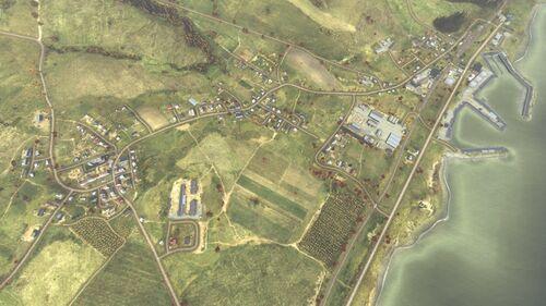 Aerial shot of Berezino