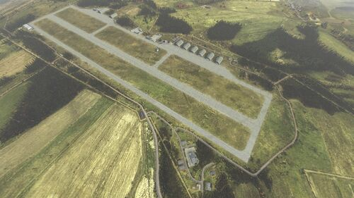 Aerial shot of International Airfield
