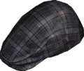 Black Check Flat Cap.png