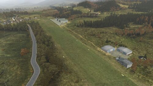 Aerial shot of Balota Airstrip