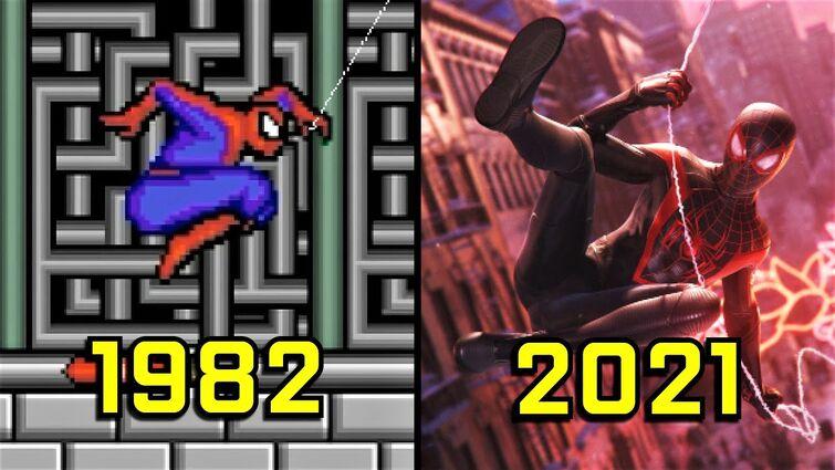 Evolution of Spider-Man Games 1982-2021
