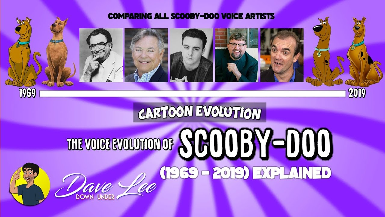 Voice Evolution of SCOOBY-DOO - 50 Years Compared & Explained | CARTOON EVOLUTION