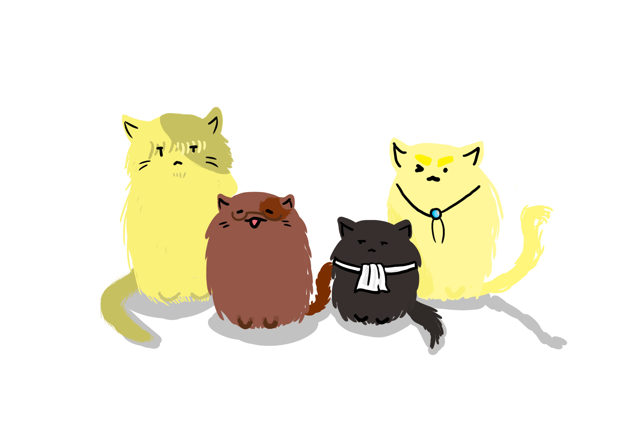I was bored so I drew the Vets at cats