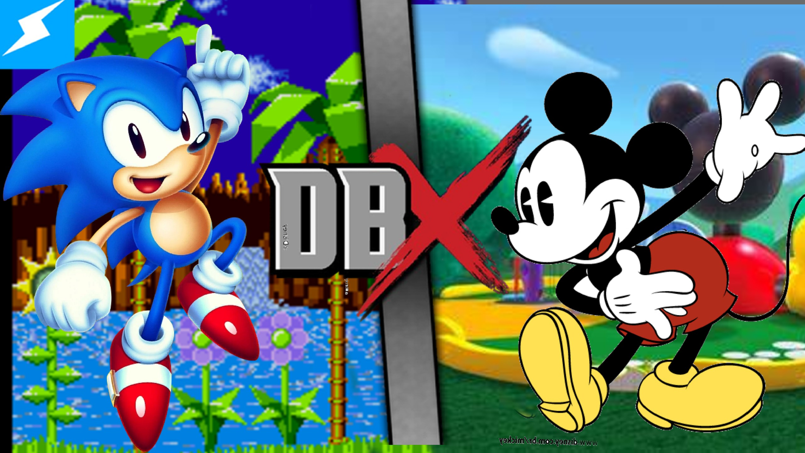 Sonic the Hedgehog vs. Mickey Mouse