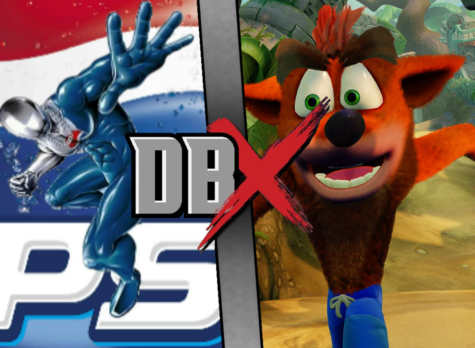Crash Bandicoot VS Pepsiman