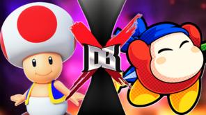 Toad VS Bandanna Waddle Dee