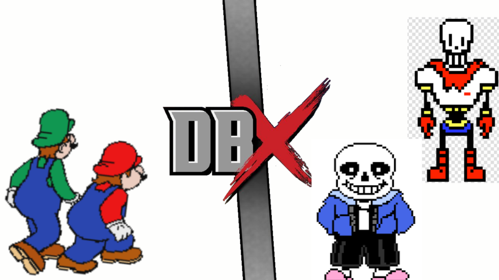 Mario and Luigi Vs Sans and Papyrus