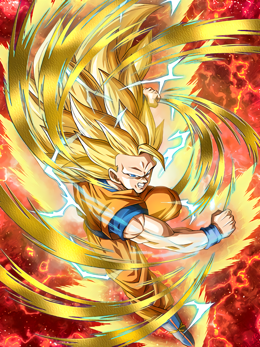 Clutching Victory Super Saiyan 3 Goku Dragon Ball Z Dokkan Battle Wiki Fandom