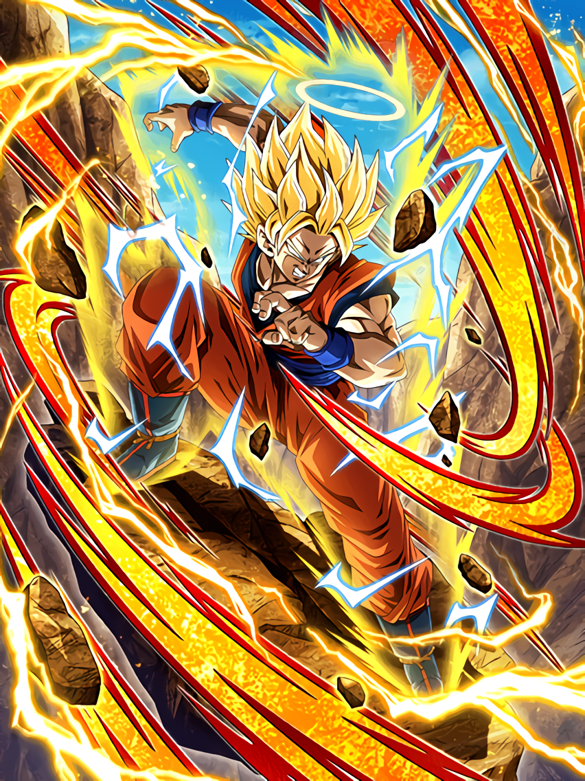 Rousing Fighting Spirit Super Saiyan 2 Goku (Angel)