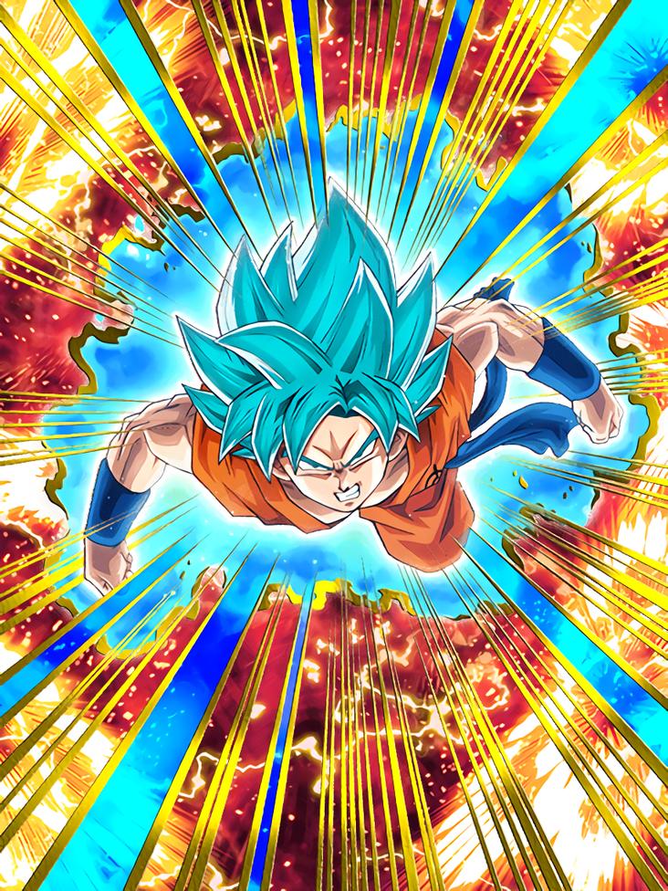 Unstoppable Ascension Super Saiyan God SS Goku