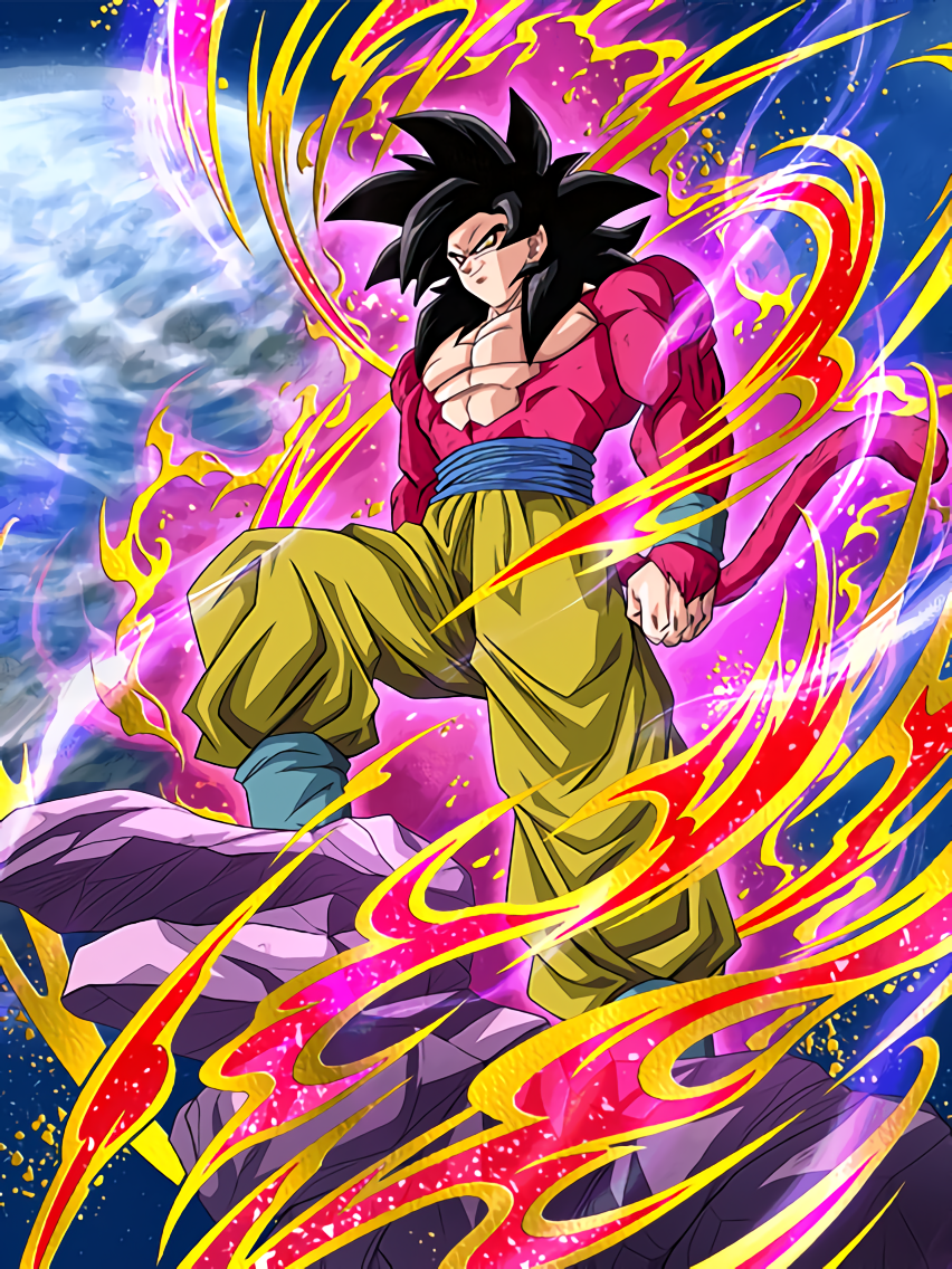Scarlet Hero Super Saiyan 4 Goku