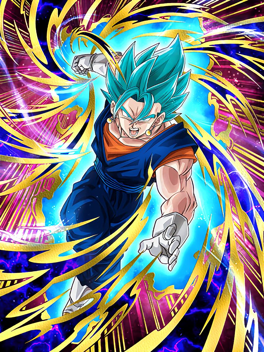 Azure Omnipotence Super Saiyan God SS Vegito