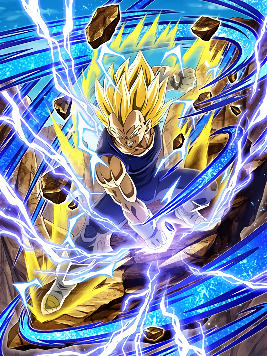 Indomitable Fighting Spirit Super Saiyan 2 Vegeta