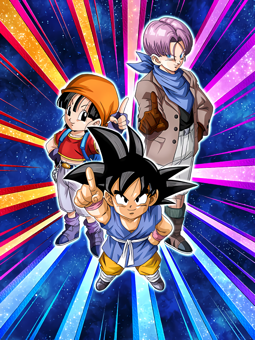 A New Adventure Unfolds Goku (GT) & Pan (GT) & Trunks (GT)
