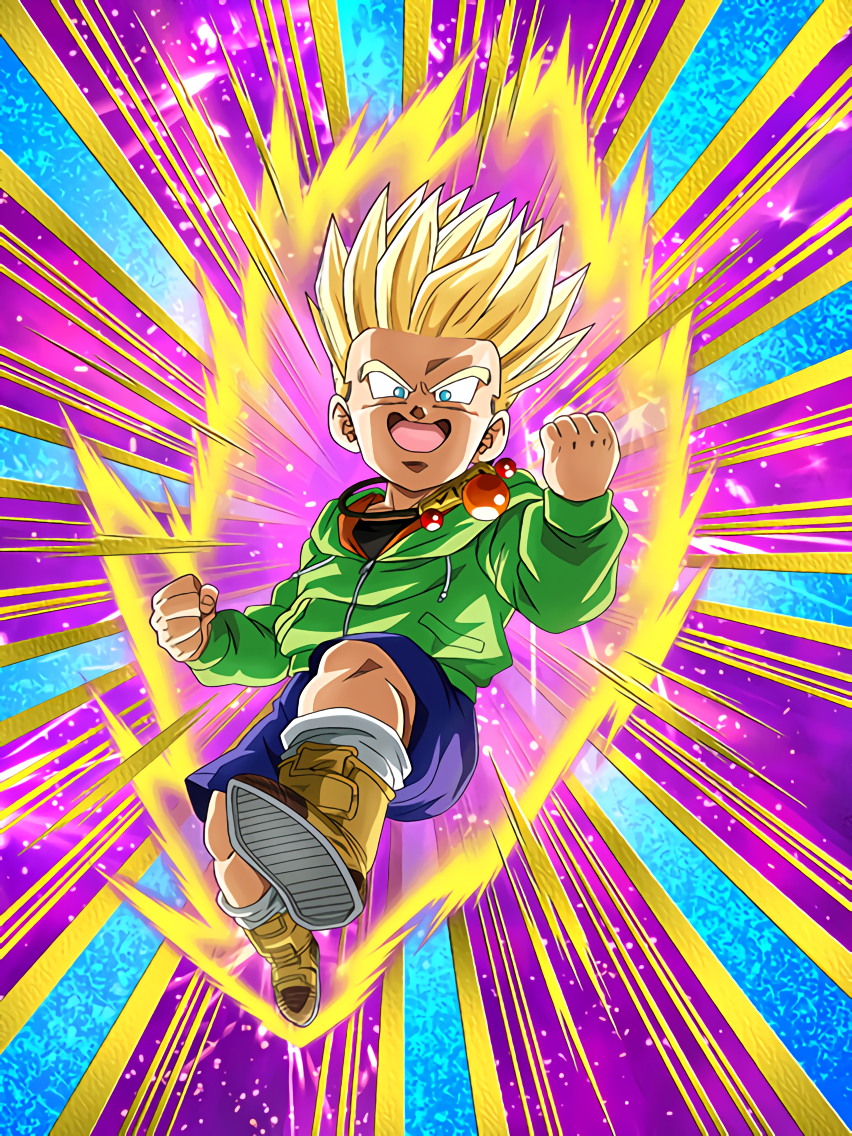 Confidence-Oozing Struggle Super Saiyan Trunks (Kid)