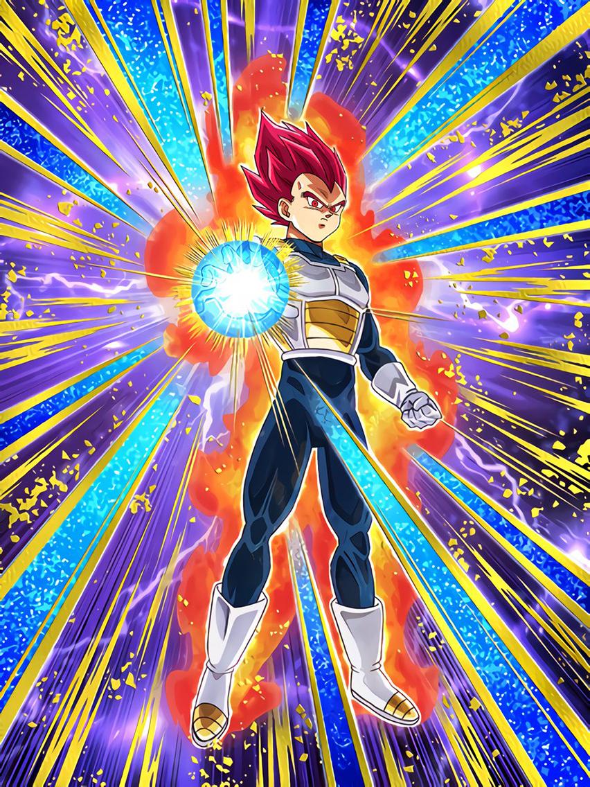 Devastating Fighting Spirit of God Super Saiyan God Vegeta