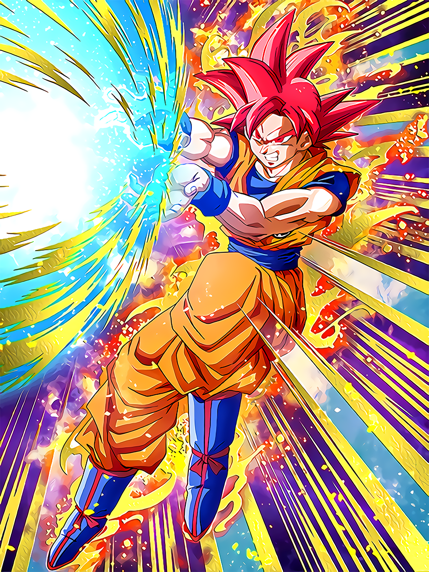 Accelerated Battle Super Saiyan God Goku