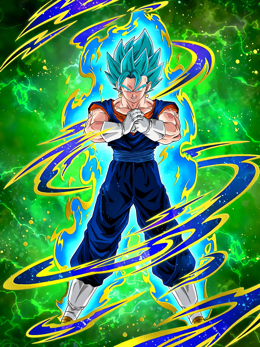Blue Flash Super Saiyan God SS Vegito
