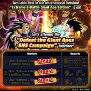 Defeat the Giant Apes SNS campaign