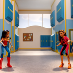 Wonder Woman and Cheetah DCSHG Doll Western Duel.png