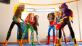 Bumblebee, Poison Ivy, Katana and Wonder Woman, Supergirl, Batgirl DCSHG Doll Cowgirl Duel