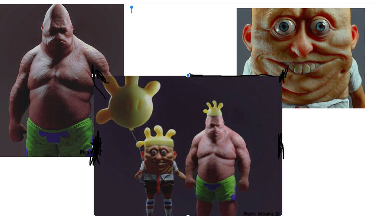 If sponge bob square pants was real... look away if you don't want to puke ? plz!