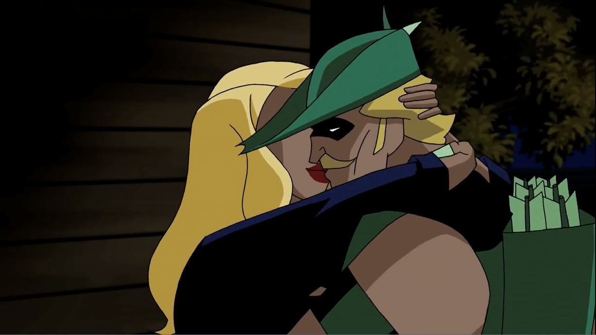 Black Canary and Green Arrow kiss.png
