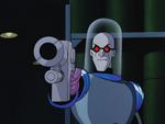 Freeze aims gun