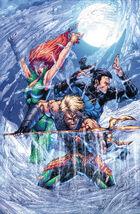 Tempest, Mera e Aquaman recuperando Atlântida