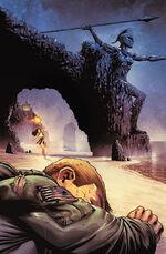 Steve é descoberto por Diana depois de aterrissar na ilha