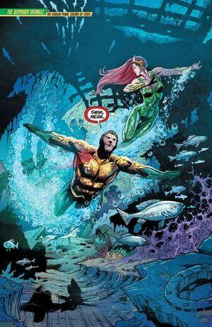 Aquaman e Mera apressar para salvar Atlântida do Limpador.