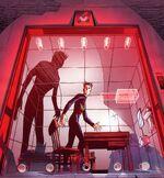 No mundo do ponto de ignição, Kal-El foi encontrado e criado pelo governo americano