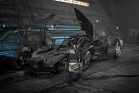 Arte-conceito do Batmóvel em 'Justice League'