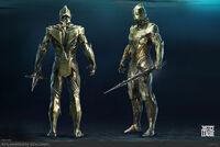 Conceito 2 guarda-Atlante para 'Justice League'