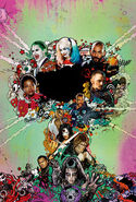 Suicide Squad Theatrical Poster Textless
