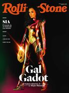 Gal Gadot in Golden Armor on Rolling Stone Colombia Cover