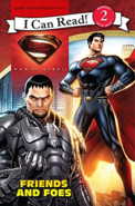 Man of Steel Friends and Foes (I Can Read Level 2) cover