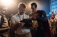 BvS Henry Cavill and Zack Snyderl